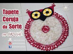 Crochet owl rug, step by step; Tapete Couraja da Sorte de Crochê - passo a passo - #professorasimone #crochet - YouTube