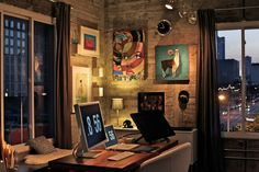 the workspace of Austin artist/illustrator/designer Shyama Golden