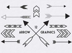 Check out Black Arrow Graphics by eyesofstyleblog on Creative Market