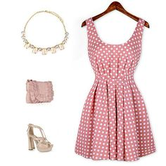 Sexy Shoulder Straps Backless Polka Dot Print Pleated Dress For WomenVintage Dresses   RoseGal.com
