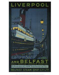 Liverpool and Belfast Kunstdruk
