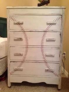 Baseball dresser, cute dresser for a little boys room