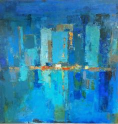 "Marcy Gregg ""Urban Reflection"" 30x30 [SOLD]"