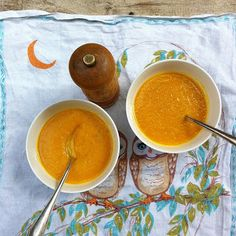 Soep van pompoen, wortel & sinaasappel