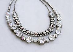 Right on Track Necklace in White Bridal - Sorrelli