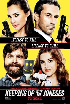 Keeping Up with the Joneses - Fun movie for a date night or a girl's night out. Sponsored.