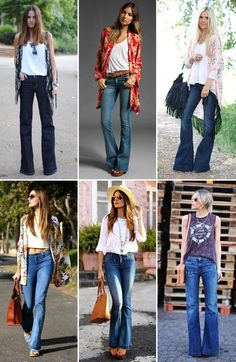 15 stunning best wide leg jeans style that suit for many occassion and never out of date when mix with suitable appropriate ouftifs. Mode Outfits, Chic Outfits, Spring Outfits, Fashion Outfits, Denim Outfits, Flare Jeans Outfit, Jeans Flare, Beste Jeans, 70s Fashion
