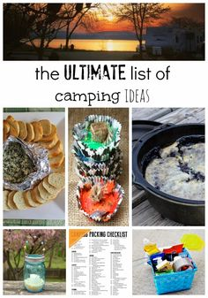 The Ultimate List of camping ideas! Ideas for tips and tricks for packing, recipes, organizing a camp kitchen and more!