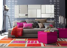 www.apashu.com wp-content uploads 2014 09 modern-living-room-colorful-accent-city-slicker-hot-pink-side-table-gray-wall-paint-sofa-citrus-magenta-backdrop-decor-geometric-rug-fire-orange-blanket-candleholder-floor-lamp-glass-730x527.jpg