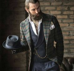 everybodylovessuits: Awesome old school combination men's fashion menswear Men's style gentlemen three piece suit Top Fashion Blogs, Hipster Fashion, Latest Fashion Trends, Mens Fashion, Fashion Suits, Fashion Menswear, Der Gentleman, Gentleman Style, Men Over 50