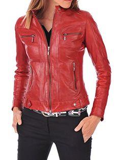Womens Stylish Lambskin Genuine Leather Jacket WJ81