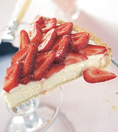 Strawberry and white chocolate mousse tart -- make it the day before and dessert will be stress-free and ready for your party.