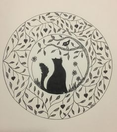 A personal favourite from my Etsy shop https://www.etsy.com/au/listing/505239869/cat-and-bird-friends-feline-wall-art