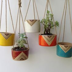 Gladstone Hanging Planter - Handmade Painted Ceramics