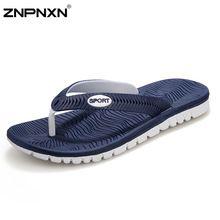 Big Size 40-45 Men Sandals New Brand Flip Flops Men Beach Slippers For Men Summer Shoes Flat Sandals Men Flip Flops 2015(China…