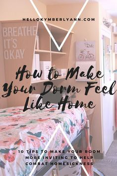 How to Make Your Dorm Room Feel Like Home 10 tips to make your room more inviting to help combat homesickness Viria, Dorm Life, College Life, College Roommate, College Students, College Survival, College Packing, Block Wall, College Dorm Rooms