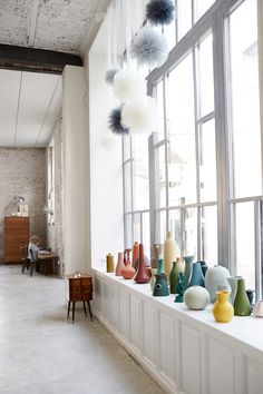 Colorful vase collection