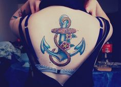 #anchor #backpiece #tattoo