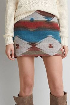 AEO Southwestern Mini Skirt  by AEO   Inspired by the American Southwest.  Shop the AEO Southwestern Mini Skirt  and check out more at AE.com.