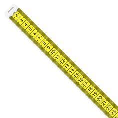 Vector illustration of yellow  measuring tape - ilustração de arte em vetor
