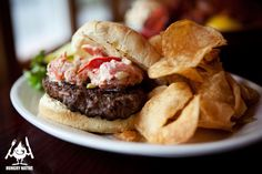 The Surf & Turf Burger comes with a dose of lobster salad - No Recipe - just inspiration