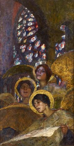 Concert of Angels by Edgar Maxence (French, 1871 - 1954 )