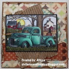 Old Truck by Athina - Cards and Paper Crafts at Splitcoaststampers