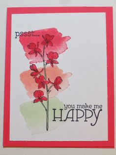 "Stampin"" Up's new Happy Watercolor set"