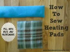 How to sew a homemade heating pad - This heating pad is filled with ...