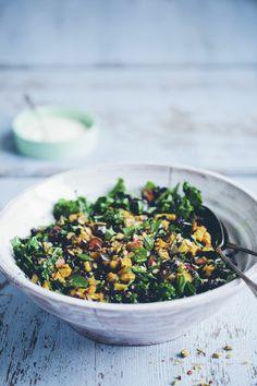 Black Rice, Kale  Aubergine Pilaf by greenkitchenstories
