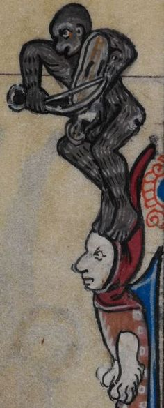 Detail from medieval manuscript, British Library Stowe MS 17 'The Maastricht Hours' f32v