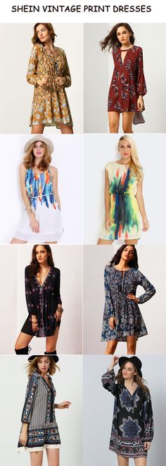 Lovely and Vintage printed dress will be the right choice to be in trend in summer 2016.