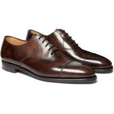 John Lobb City II Leather Oxford Shoes (87.960 RUB) via Polyvore featuring mens, men's shoes, men's dress shoes, menswear, shoes, men, john lobb и male