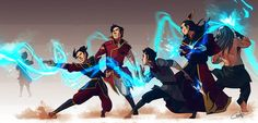 The Four Elements Specialized (Avatar: The Last Airbender & Legend of Korra) : Fire benders (by on deviantART) Avatar Aang, Team Avatar, Avatar The Last Airbender, Ride The Lightning, Avatar World, Water Tribe, Avatar Series, Azula, Fire Nation