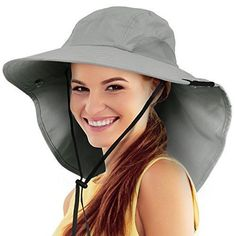 Safari Sun Hats for Women Fishing Hiking Cap with Neck Flap Wide Brim Hat  Shoes cd60af11ded5