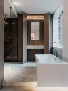Bathroom by Johnson Naylor - apartment in Soho London
