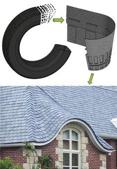 Tejas de caucho reciclado | Recycled rubber tiles