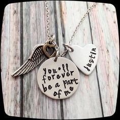 Memorial Necklace, Forever a part of me, Mom-Dad-Husband-Daughter-Son-Brother-Sister-Loss of loved one, Sympathy Gift