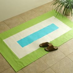 outdoor rug made from canvas