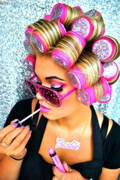 Night Out – Peaches & Cream - Liverpool Makeup Artists -barbie Makeup How To Use Curlers, Sephora, Hight Light, Brazilian Hair Bundles, Barbie Life, Beauty Shots, Girly Things, Hair And Nails, Hair Beauty