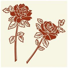 """Style and Apply Rose Couple Wall Decal Size: 24"""" H x 23"""" W, Color: Royal Blue"""