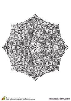 Coloriage d'un Mandala ethnique formant de superbes labyrinthes