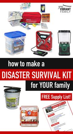 Natural disasters can happen anywhere! But when you build your own disaster preparedness kit, you'll be prepared, not scared! This post has everything you need--including a printable supply list--to put your kit together!