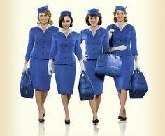 Vitrola na Vitrine - Pan Am - Show - Airlines I miss this show! Pan Am, Belle Epoque, Air Hostess Uniform, Halloween Shoes, Halloween Costumes, Airline Uniforms, Flight Attendant Life, Bride Of Frankenstein, Christina Ricci