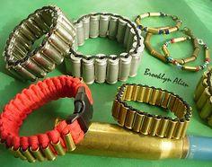 Unique Bold Bullet Shells Paracord Bracelet   by BrooklynAlienArt, $55.00