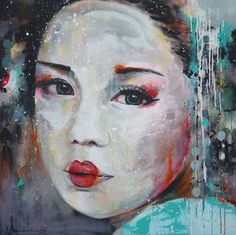 Ingeborg Herckenrath - Geisha 4 #geisha painting #geisha #memoires of a geisha #japan culture