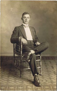RPPC Young Man in Tuxedo Dressed to the Nines Herbert
