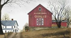 Billy Jacobs 'The Quilt Barn' Framed Wall Art by Trendy Decor 4U