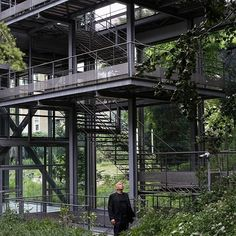 Architect Jean Nouvel (pictured at the Fondation Cartier, which he designed) opens up about reinvigorating his design studio, plus his first solo furniture show, recently  opened in Paris. Read the full story now - link in bio. (: Hannah Starkey) #JeanNouvel