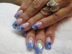 BLUE CIRCLE FUN by ATWISTOFFRENCH - Nail Art Gallery nailartgallery.nailsmag.com by Nails Magazine www.nailsmag.com #nailart